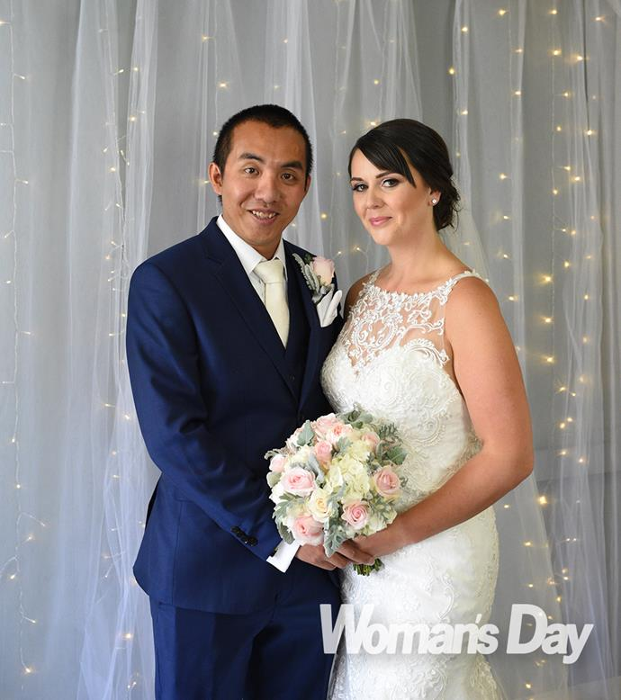 Wearing a Working Style suit, Chang was in tears even before Victoria entered the chintzy chapel.