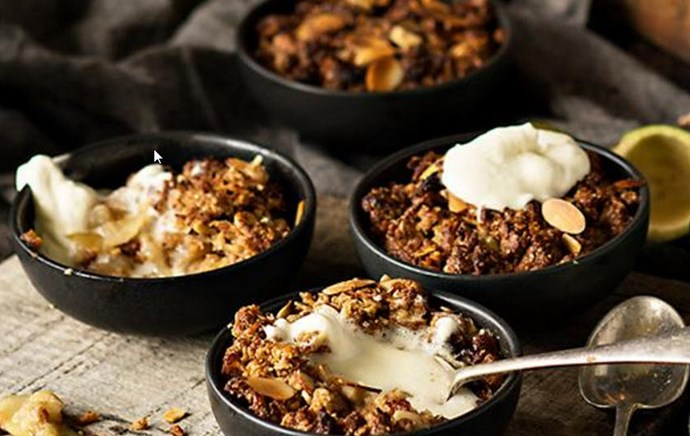 [Crunchy feijoa and apple crumbles - click here for the recipe](http://www.foodtolove.co.nz/recipes/crunchy-feijoa-and-apple-crumbles-18119)