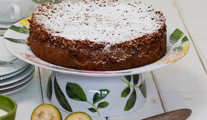 [Feijoa lumberjack cake - click here for the recipe](http://www.foodtolove.co.nz/recipes/feijoa-lumberjack-cake-22092)