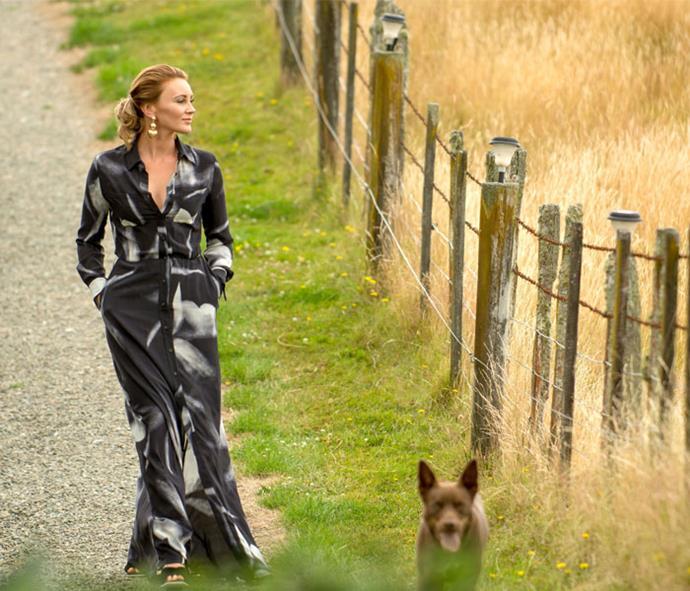 Amelia Reid-Meredith on the farm
