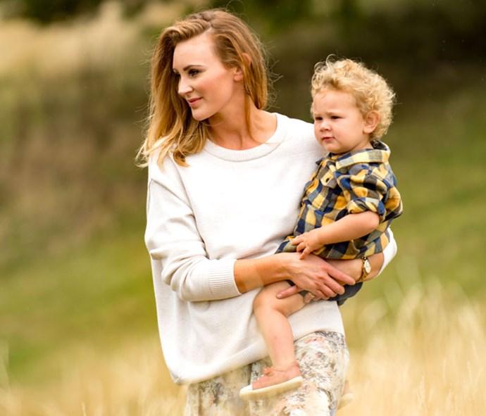With son Arlo