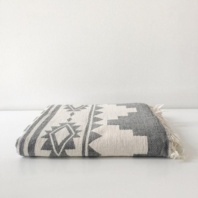 Throw, $119, by [Let Liv](https://www.letliv.co.nz/products/oteki-arizona-maxi-towel).