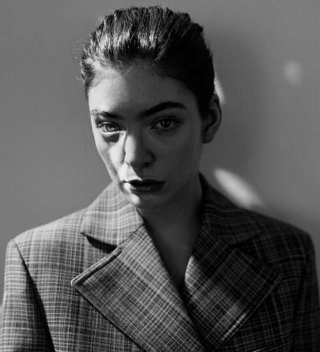 Lorde looks broody, as per.