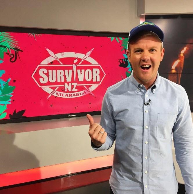 Matt McLean gets his fix of *Survivor.*