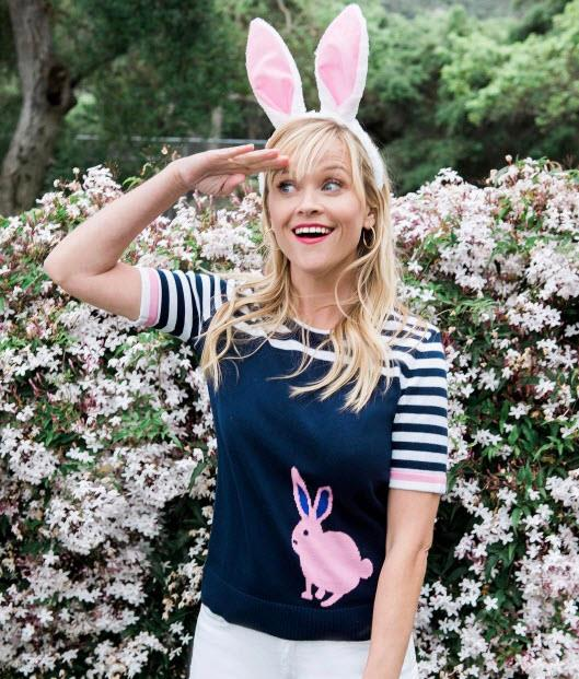 Reese Witherspoon spies an Easter egg hunt.