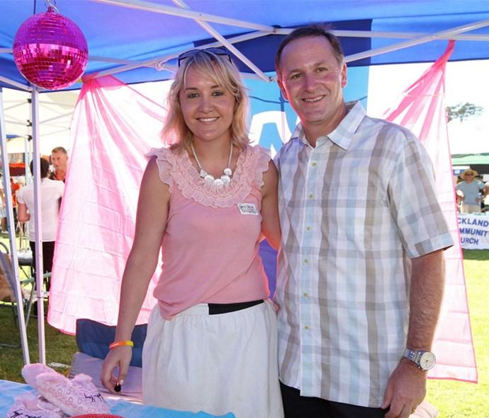 Nikki with former Prime Minister, John Key.