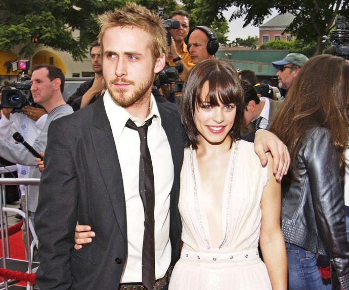 """**Ryan Gosling & Rachel McAdams in *The Notebook*** Director Nick Cassavetes says Ryan even begged him, """"Would you take her out of here and bring in another actress to read off-camera with me? I can't do it with her."""""""