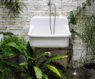 forest bathroom