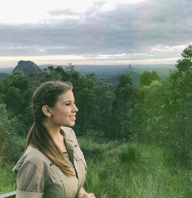 Bindi Irwin takes in the beauty of Aus.