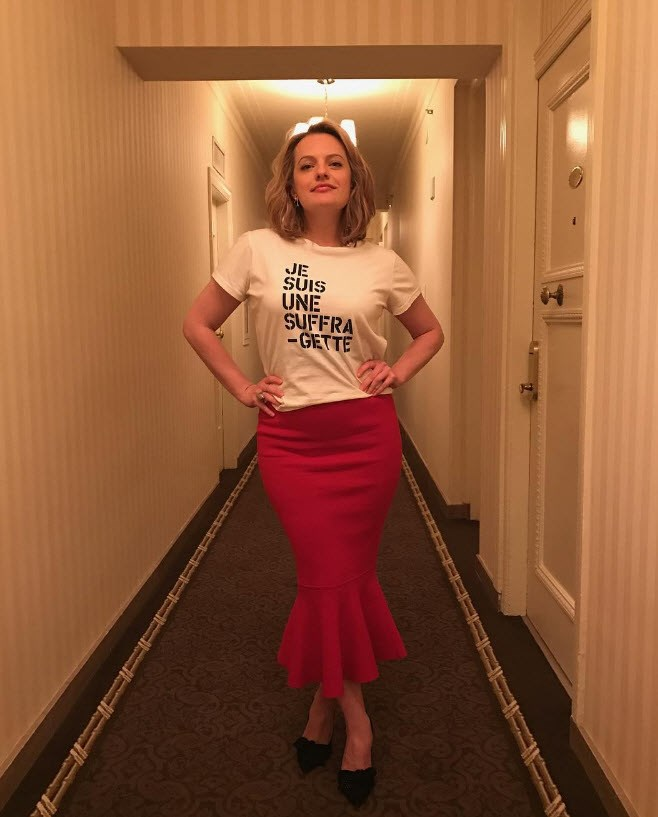 *The Handmaid's Tale* actress Elisabeth Moss makes her feminist feelings clear.