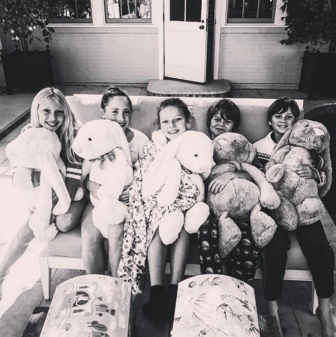Gwyneth Paltrow babysits the brood.