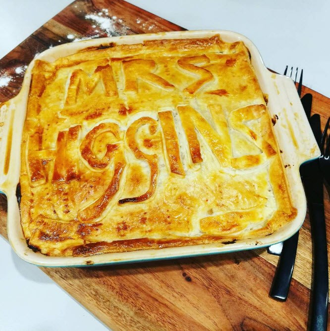 Nadine Higgins (formerly Chalmers-Ross) bakes a pie in her namesake.