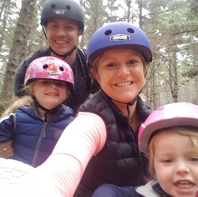 Toni Street tries a family biking adventure.