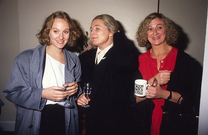 With sisters Niahm Cusack (left), and Sinead Cusack.