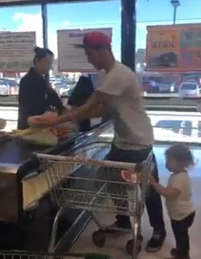 Te Riina approached Matt as he was putting his groceries through the checkout. Photo: Facebook
