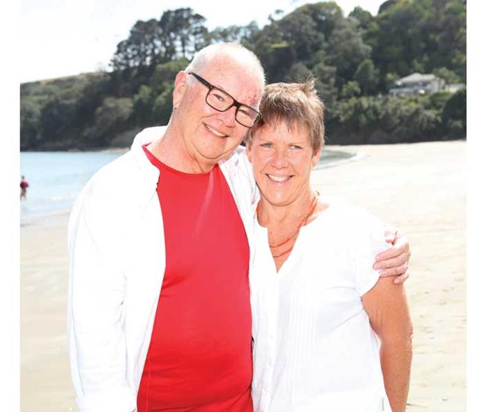 """The self-confessed """"people person"""", pictured with his partner Jo (inset), has branched out and become a marriage celebrant."""