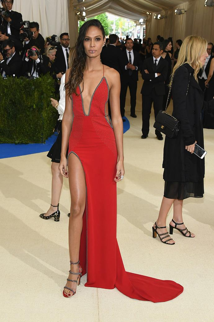Joan Smalls in custom Topshop