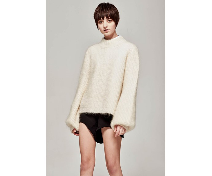 Jumper, $350, [Marle.](https://www.marle.co.nz/collections/knitwear/products/mimi-jumper-ivory?variant=34293322636)