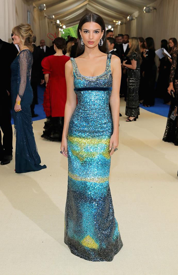 **BEST:** Emily Ratajkowski's shimmering Marc Jacobs gown has us starry-eyed.