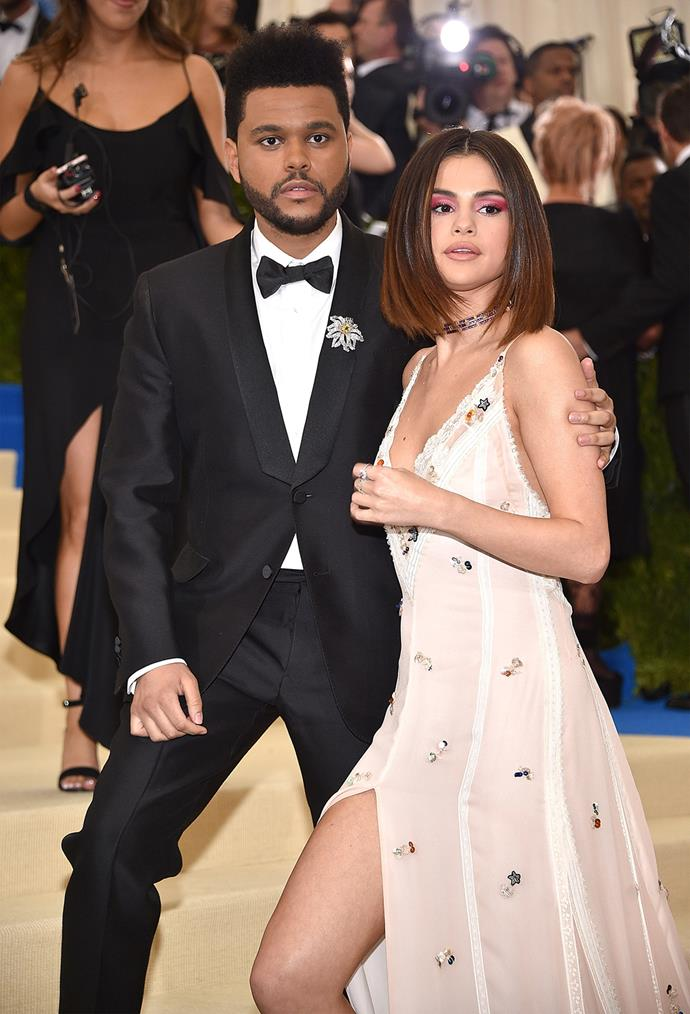 Selena Gomez made her red carpet debut with boyfriend The Weeknd.