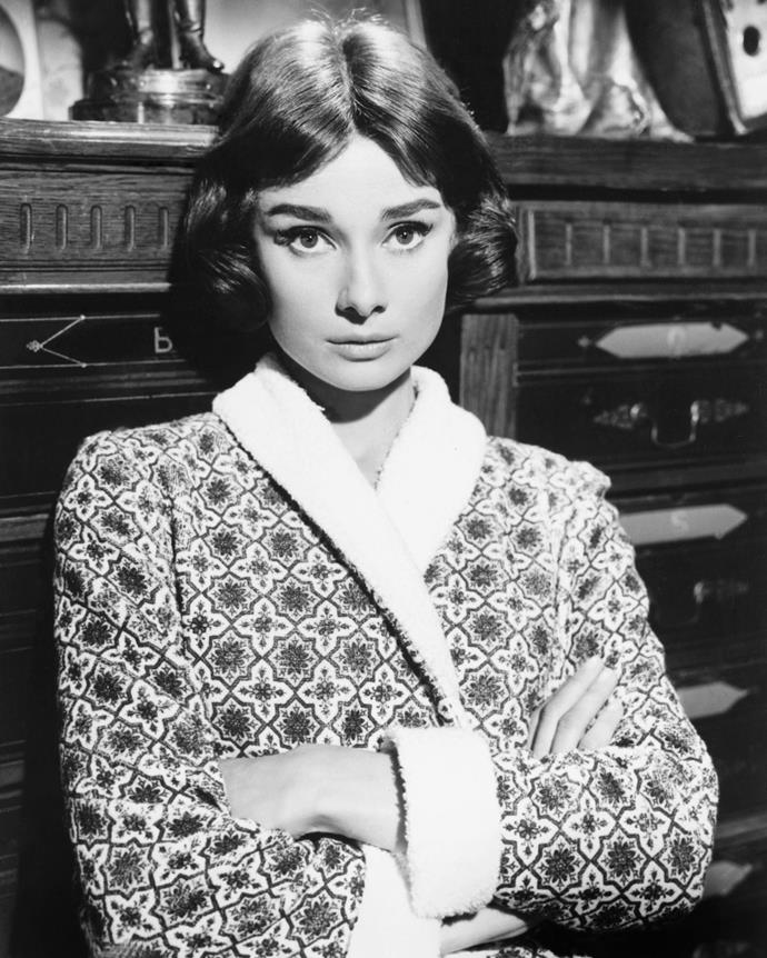 Whether it was a chic nightshirt and mask or a silk kimono-style dressing gown, Audrey knew how to dress around the house.