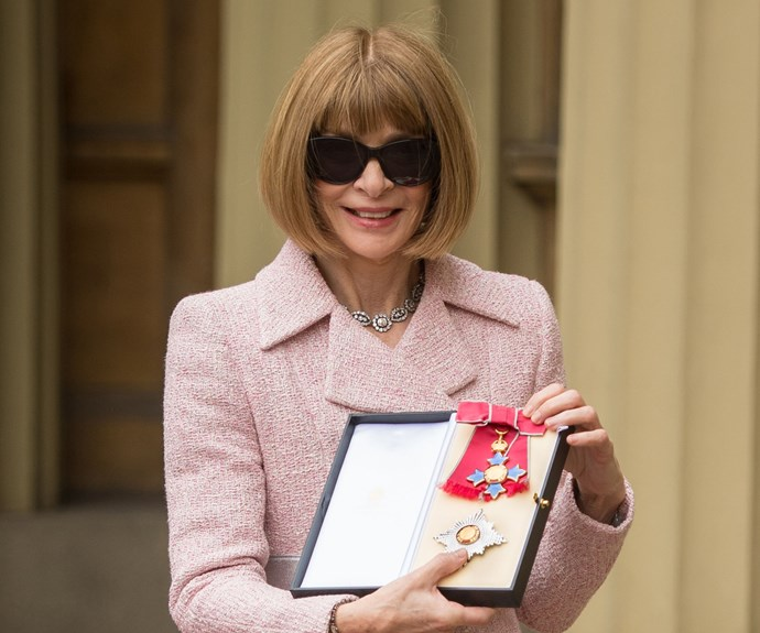 Anna Wintour has been recognised for her services to fashion and journalism