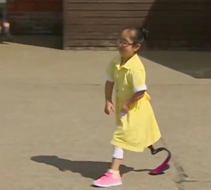 Anu could be seen nervously walking over to her friends (Credit: Facebook/ BBC Midlands Today)