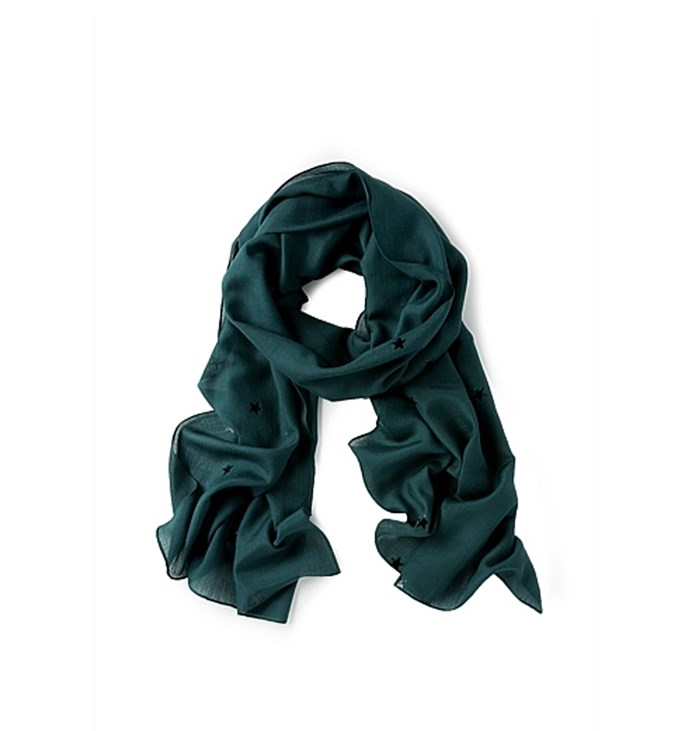 [Scarf, $89.90, by Country Road.](https://www.countryroad.co.nz/shop/woman/accessories/scarves/60207481-3246/Metallic-Star-Scarf.html)