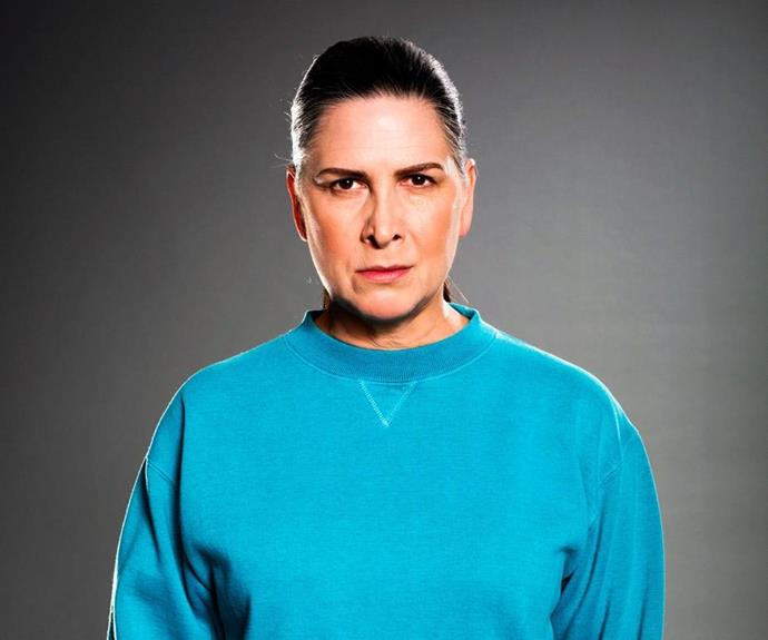 "Pamela Rabe plays longstanding Wentworth character Joan ""The Freak"" Ferguson."