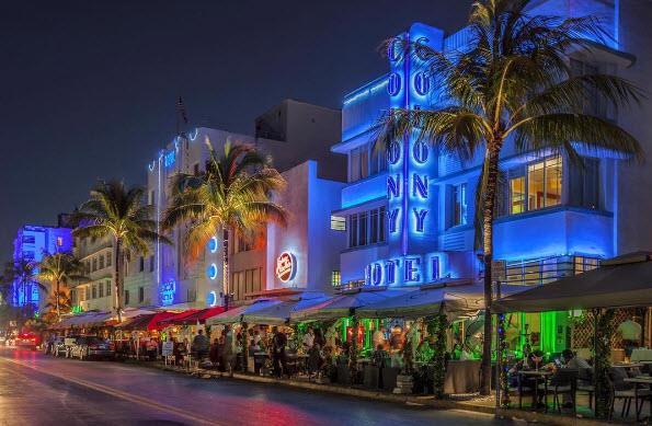4.South Beach, Miami, USA. Tagged 4,689,396 times.