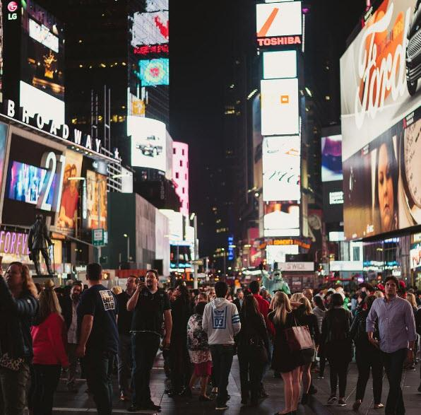 8.Times Square, New York City, USA. Tagged 2,560,272 times.