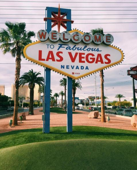 6.Las Vegas strip, Nevada. USA. Tagged 3,653,548 times.