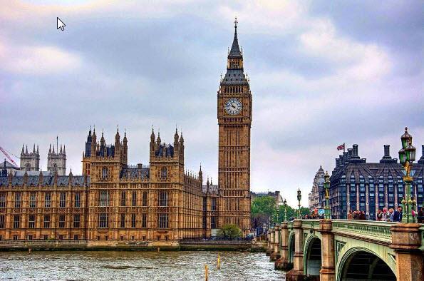 7.Big Ben, London, UK. Tagged 2,561,617 times.