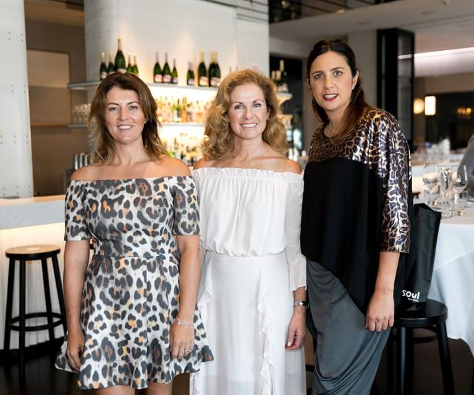 Beth Morris, Frances Bostock, Leah Tahwai