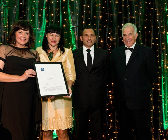 Liz Te Amo, winner of the Dame Mira Szászy Māori Alumni Award