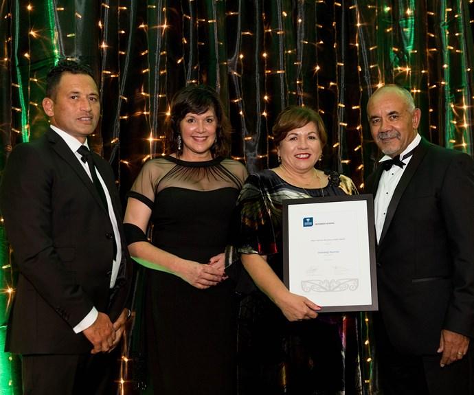 Hinerangi Raumati, winner of the Māori Woman Business Leader Award