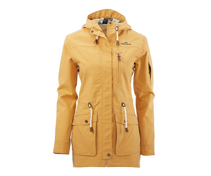 [Rain jacket, $499, by Kathmandu.](http://www.kathmandu.co.nz/womens/clothing/jackets-and-vests/expedite-coat-womens.html)