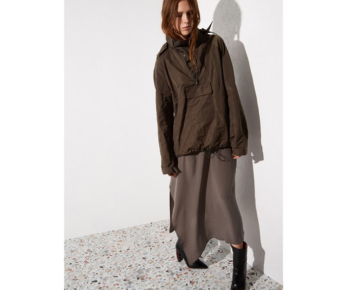 [Raey rain jacket, $565, from Matches Fashion.](http://www.matchesfashion.com/intl/products/Raey-Detachable-hood-lightweight-jacket-1153107)