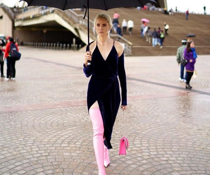 Beth Levis at Mercedes-Benz Fashion Week Australia