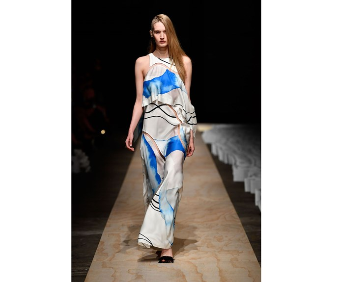 **Blue and white** at Bianca Spender.