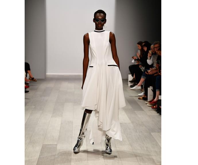 **LIttle white dress** at Mariam Seddiq.