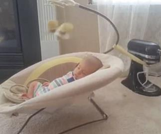 DIY baby bouncer.