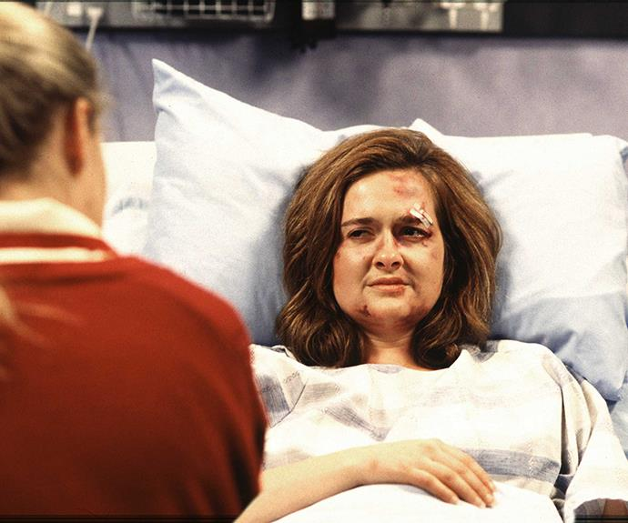 **Carla Crozier: played by Elisabeth Easther, 1995 to 1996** One of the show's most memorable villains, the nasty nurse spiked her sister Ellen's pizza so she'd fail a drugs test, then twice unsuccessfully tried to kill rival Tiffany Pratt. After being raped, Carla convinced her attacker to drive his truck into the clinic – a crash that took the life of fellow nurse Carmen – and later bludgeoned her husband Bernie Leach to death with a candlestick. After attempting suicide, Carla was admitted to a psychiatric facility, where she attempted to murder her visiting sister.