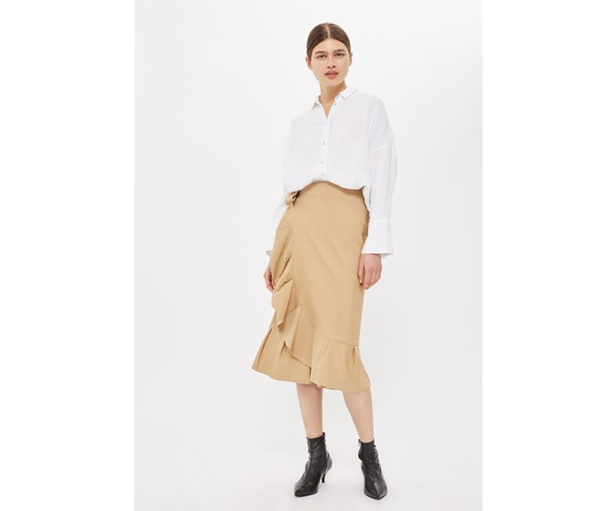 Skirt, $91, by [Topshop.](http://www.topshop.com/en/tsuk/product/clothing-427/skirts-449/petite-cotton-frill-midi-skirt-6393721?bi=0&ps=20)