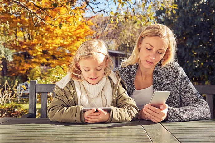 It's up to parents to role-model responsible online behavior. Photo: Getty Images