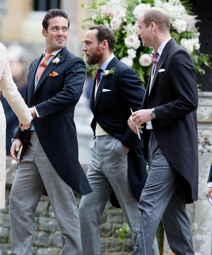 All eyes were on James' brother, London socialite, Spencer Matthews (R) for any possible social faux pas.