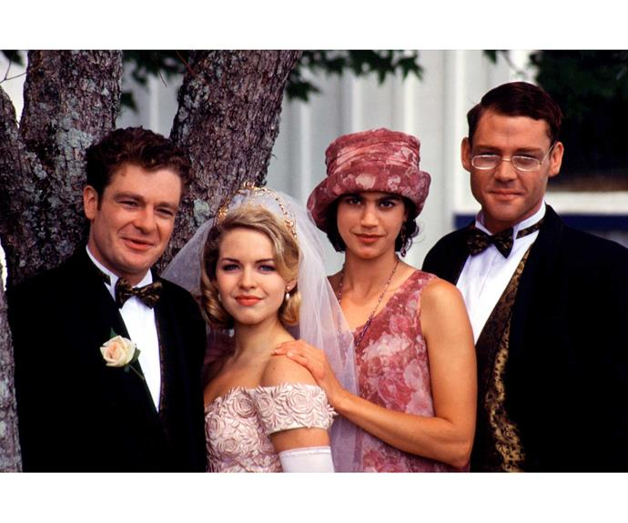 **Lionel & Kirsty: December 23, 1994**  Blonde bombshell Kirsty Knight (Angela Dotchin) set lovable Lionel Skeggins' (John Leigh) heart racing as she wafted up the aisle. Then Stuart Neilson (Martin Henderson) ruined everything by getting up and declaring his undying love for her! Lionel stomped off in a huff, but the couple made up later that evening and exchanged vows on their houseboat.