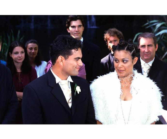 **Rangi & Donna: June 9, 2000** Paramedics Rangi Heremaia (Blair Strang) and Donna Heka (Stephanie Tauevihi) had a bumpy start to romance when told they were siblings. Later, they were thrilled to discover they weren't and they wed beside a waterfall – but marital bliss didn't follow. It turned out Rangi was a rotten cheat and he was murdered by his mistress!