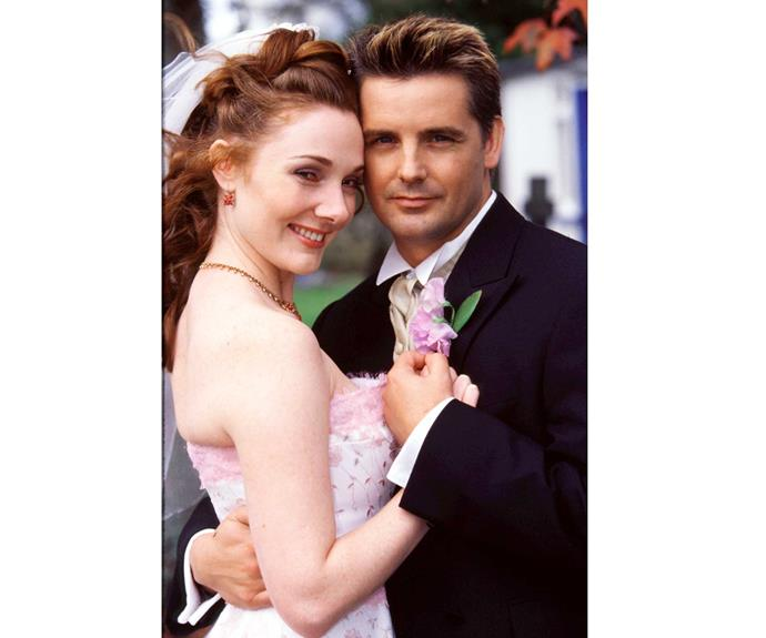 **Emily & Dominic: September 1, 2003** Dominic Thompson's one true love Delphi (Anna Hutchison) tried desperately to stop the nuptials between Chris Warner's half-brother and heiress Emily Bredican (Sarah Somerville). She failed, but the marriage ended soon after and Delphi later learnt Dom (Shane Cortese) murdered her brother.