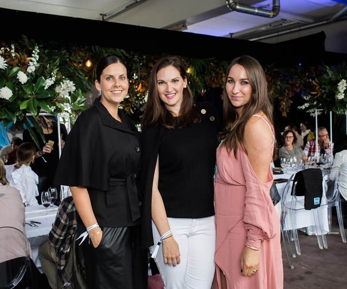 Angie Fredatovich, Caitlin Taylor and Andrea Steward
